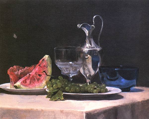 John La Farge (1835-1910)Still_life_study_of_silver_glass_and_fruit