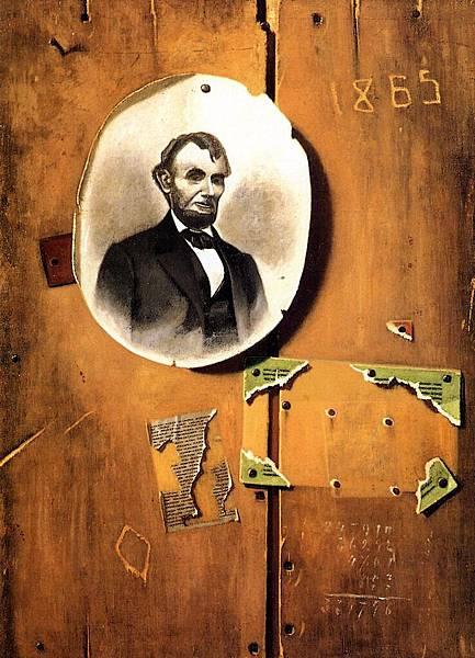 John Frederick Peto (1854-1907)-Board with Lincoln Photograph - (John Frederick Peto