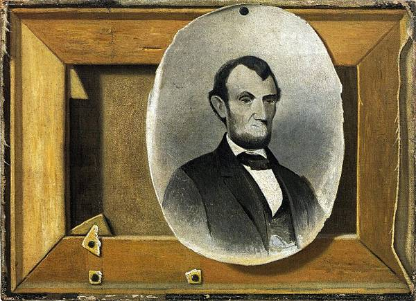 John Frederick Peto (1854-1907)-Lincoln and the Pfleger Stretcher - (John Frederick Peto - 1898)