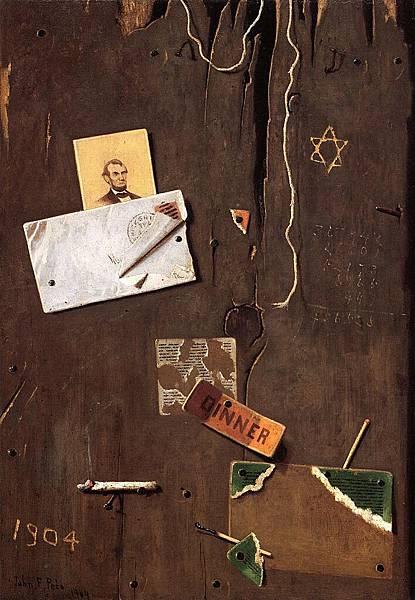 John Frederick Peto (1854-1907)-Lincoln and the Star of David - (John Frederick Peto - 1904)