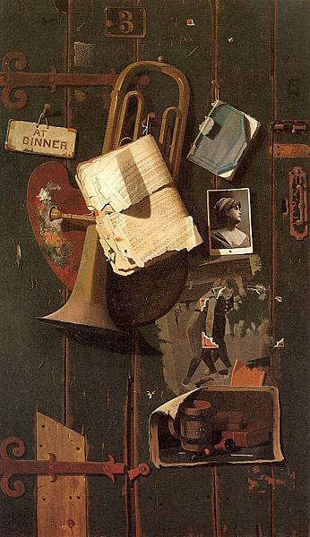 John Frederick Peto (1854-1907)-Ordinary Objects in the Artist's Creative Mind