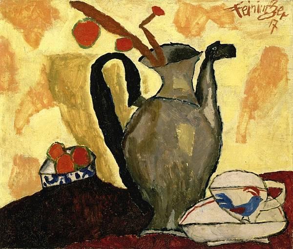 Lyonel Charles Feininger (1871-1956)-Still Life with Can