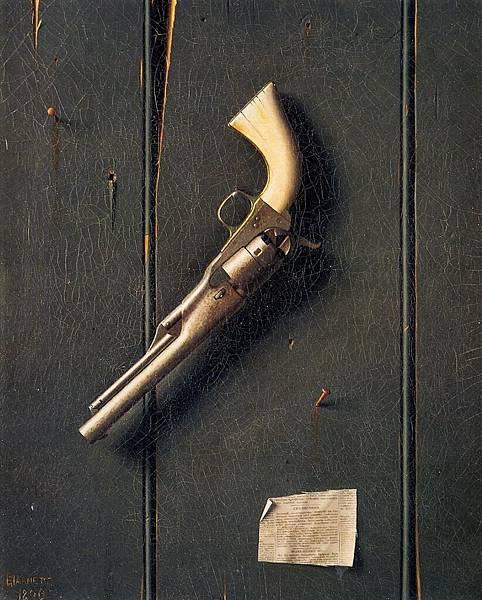 William Michael Harnett (1848-1892)-The Faithful Colt