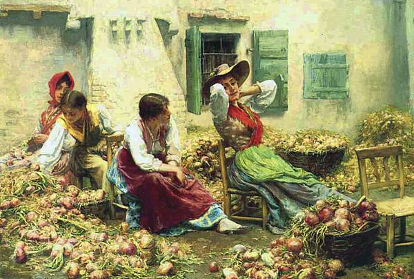 Charles Frederick Ulrich (1858-1908) Italian Idyll