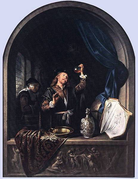 Gerrit Dou (1613-1675)-The Physician