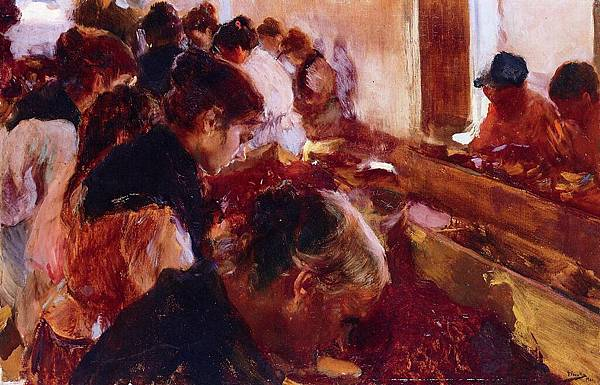Joaquin Sorolla y Bastida (1863-1923)-Sorolla_y_Bastida_Joaquin_Stemming_Raisins_Javea