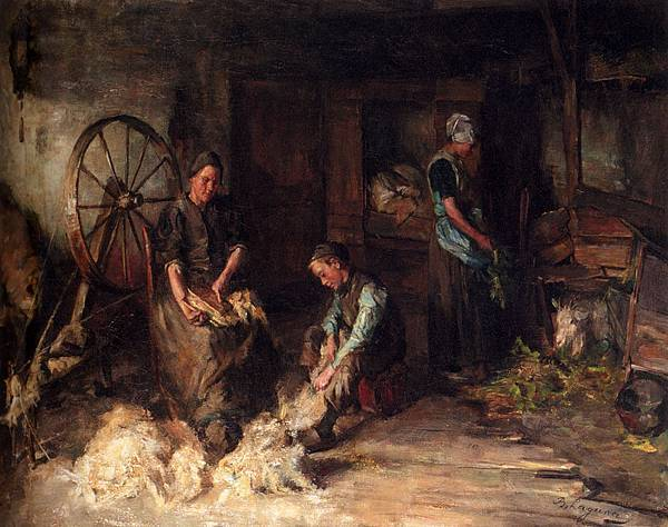 Laguana_Baruch_Leao_Lopes_De_A_Farm_Interior_With_A_Peasant_Family