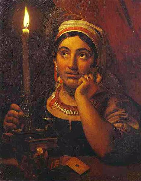 Orest Kiprensky. Fortune-Teller with a Candle