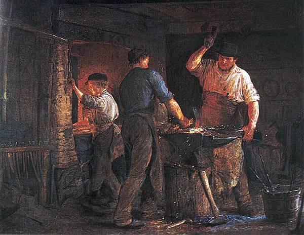 Peter Severin Kroyer (1851-1909)-Kr%C3%B8yer_-_Smedje_i_Hornb%C3%A6k