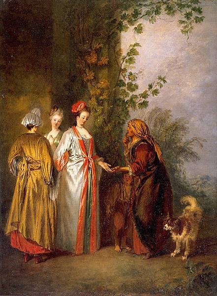 Watteau, Jean-Antoine   The Fortune Tellers, 1710