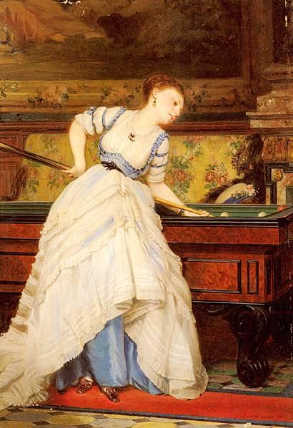 Charles Edouard Boutibonne (1816-1897) Boutibonne_Charles_Francois_An_Elegant_Billiard_Player