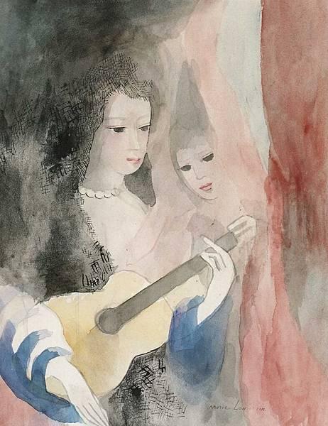 Abrupt Ckio Team - Marie Laurencin 1928 vers Jeunes femmes à la guitare