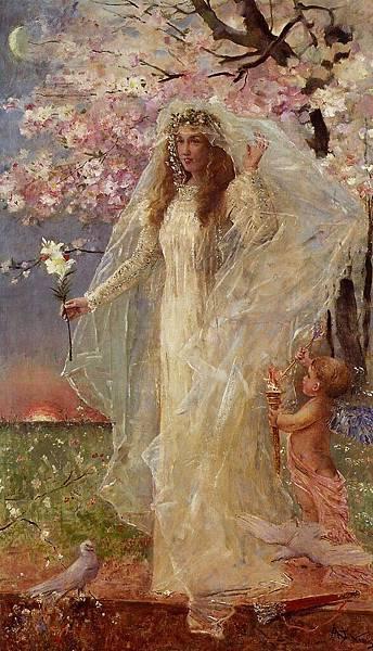 Alfred Stevens (1823-1906) L'Amore et l'hymenee