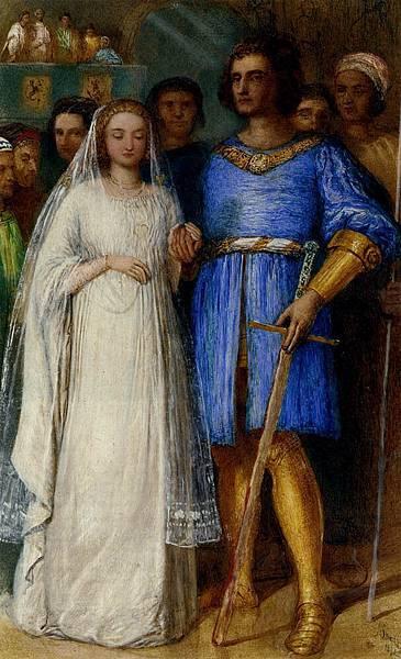 James Smetham (1821-1889) The Knight's Bridal, 1864