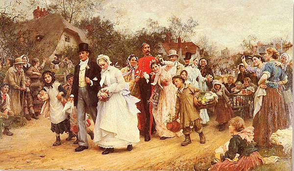 Luke Fildes (1843-1927)-Fildes_Sir_Luke_The_Wedding