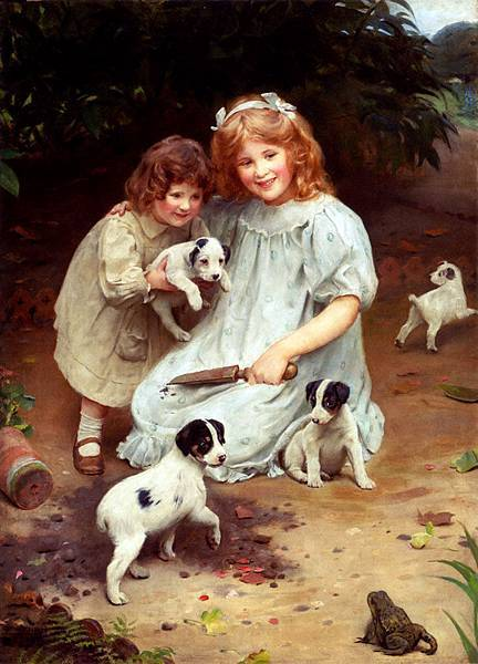 Arthur John Elsley (1861-)_An_Uninvited_Guest