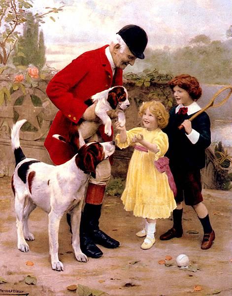 Arthur John Elsley (1861-)_The_Huntsmans_Pet