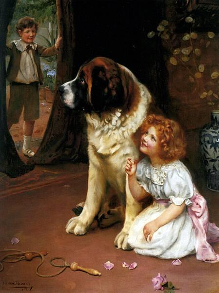Elsley_Arthur_John_Hide_And_Seek_1908_Oil_On_Canvas-huge