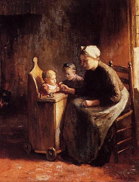 Bernard de Hoog (1866-1943)_A_Daisy_For_The_Baby