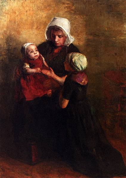 Albert Neuhuys (1844-1914)_Playing_With_Little_Sister
