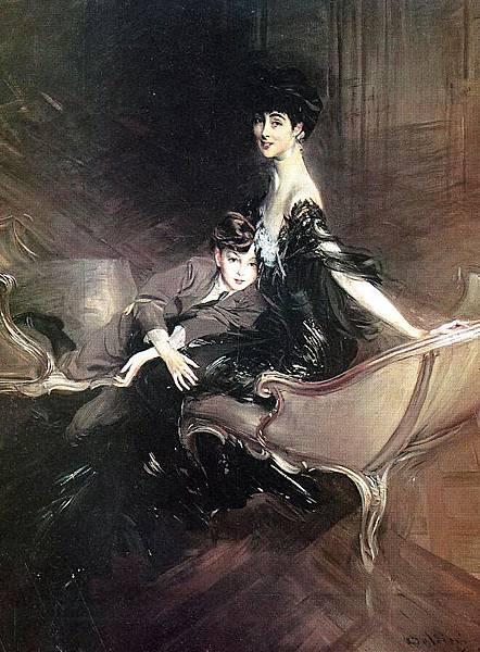Boldini_Giovanni_Consuelo_Duchess_of_Marlborough_with_Her_Son_Ivor_Spencer_Churchill