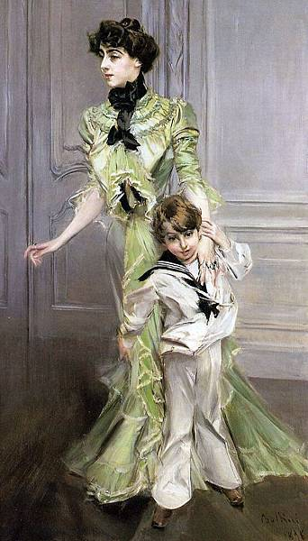 Boldini_Giovanni_Portrait_of_Madame_Georges_Hugo_(nee_Pauleen_Menard_Dozian)_and_Her_Son_Jean