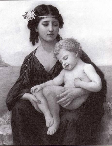 Elizabeth Gardner Bouguereau (1837-1922) By the Seashore