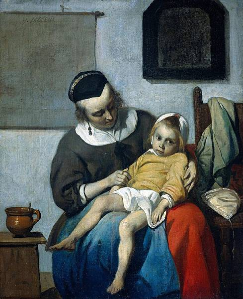 Gabriel Metsu (1629-1667)-Metsu_Gabriel_The_Sick_Child