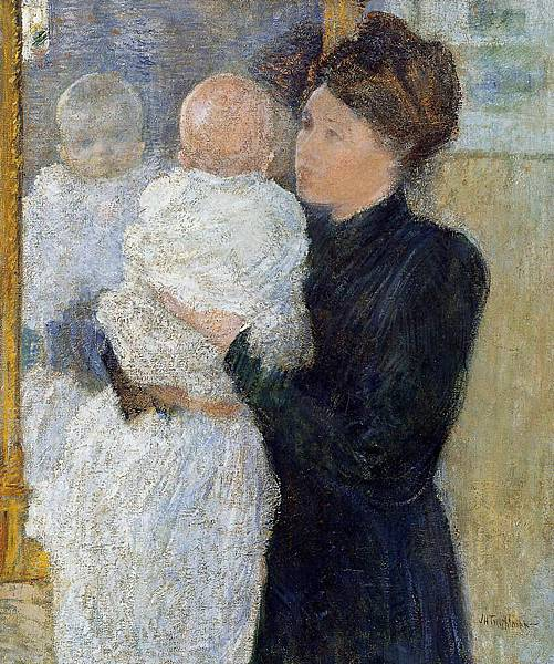 John Henry Twachtman (1853-1902)-Mother and Child