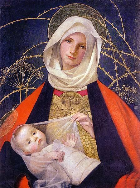 Marianne Stokes (1855-1927)  Madonna and Child, Marianne Preindelsberger Stokes, c1907