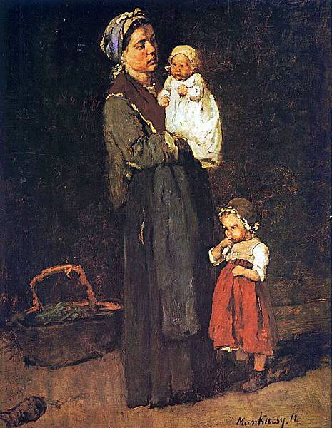 Mihaly Munkacsy (1844-1900)Mother and Child- study for The Pawnbrokers Shop