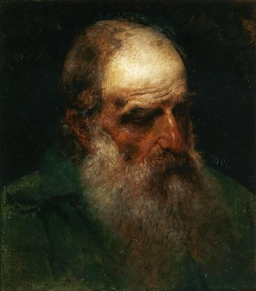 Francesco Hayez (1791-1882)-Studio dal Vero di testa di Vecchio (also known as Self Portrait)