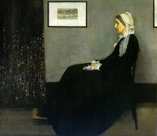JAM Whistler (1834-1903) Arrangement in Grey and Black. Portrait of the Painter's Mother-1871