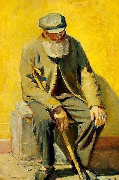Michael_Ancher_-_En_sk疆gget_mand_nyder_solen_-_1849-1927