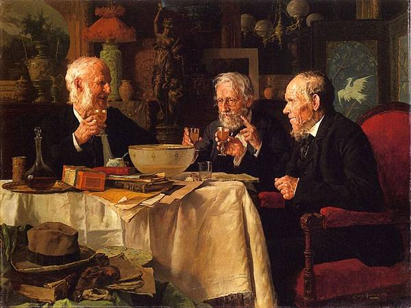 Louis Charles Moeller (1855-1930)-The Toast