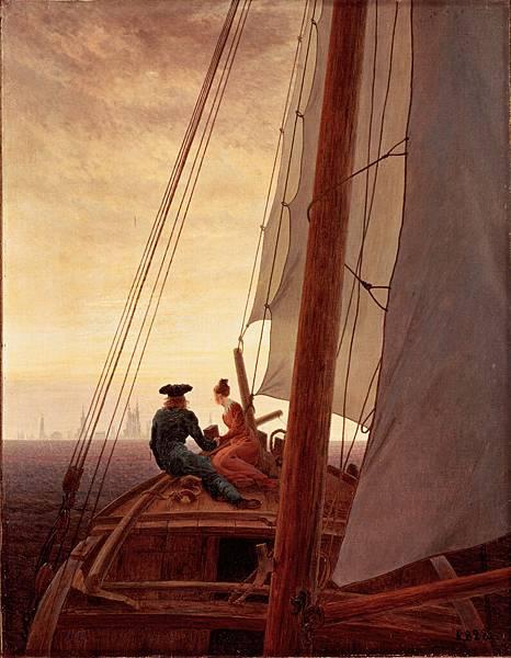 On_a_Sailing_Ship_by_Caspar_David_Friedrich
