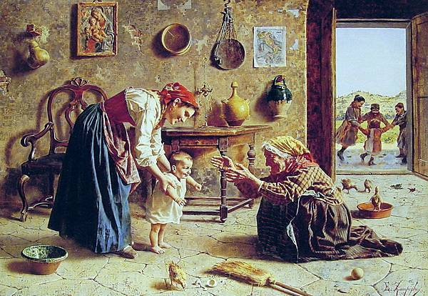 Eugenio Zampighi (1859-1944) The_First_Step