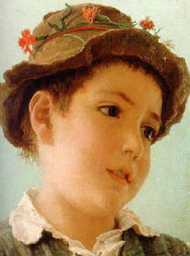 Adriano Bonifazi (1858 – 1914, Italian) peasant-boy-from-capri