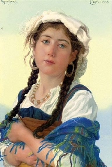 Adriano Bonifazi (1858 – 1914, Italian) young-ciociara