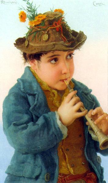 Adriano Bonifazi (1858 – 1914, Italian) the-little-savoyards-2