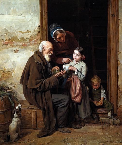 Ferdinand Georg Waldmuller, The Charitable