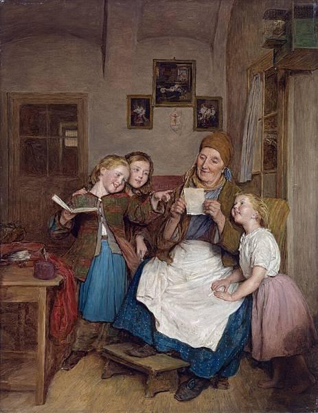 Ferdinand_Georg_Waldmüller_Großmutter_mit_drei_Enkelkindern_1854