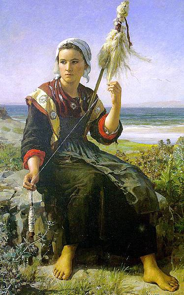 Jules Breton (1827-1906) Brittany Girl, 1872.jpg
