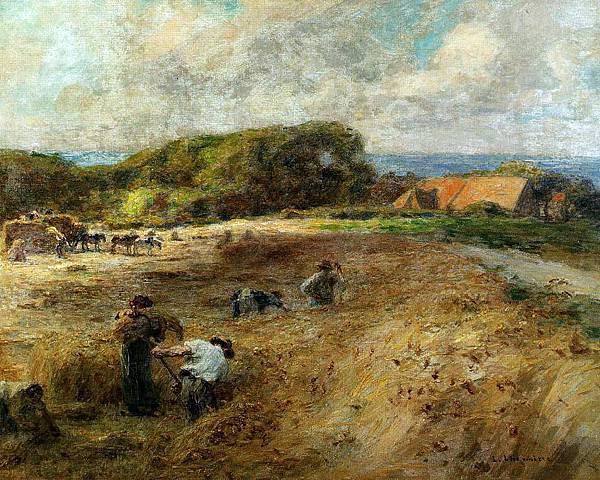 Harvesters near the Farm of Sambre - (Leon Augustin Lhermitte - circa 1920).jpg
