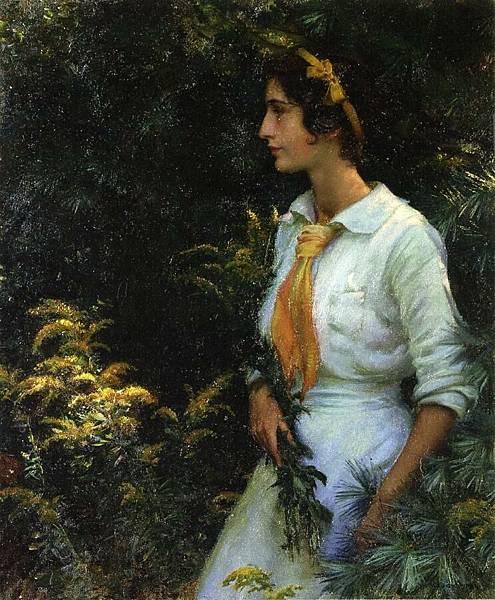 Charles Courtney Curran (1861-1942)-Goldenrod.jpg