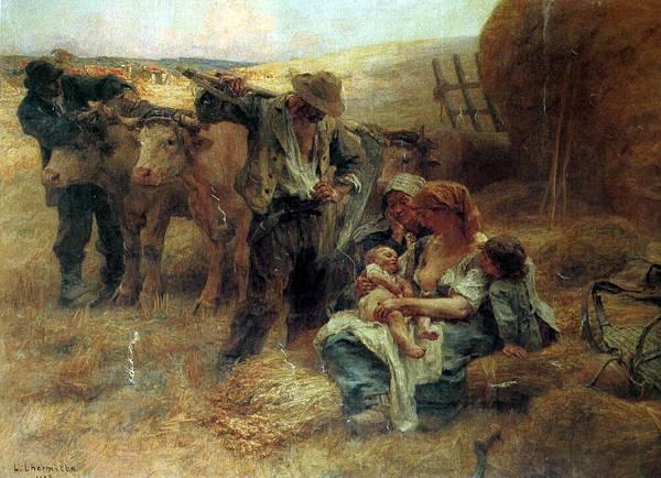 Leon Augustin L'hermitte (1844-1925)-Lhermitte Leon Augustin (French) 1844 to 1925 La Famille SnD 1908 O_C 256.5 by 348cm.jpg