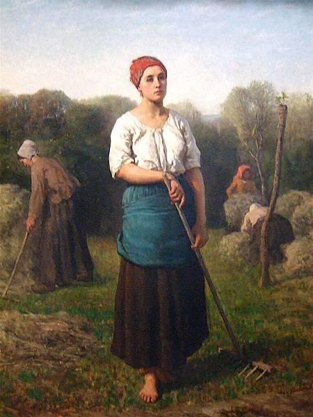 Jules Breton (1827-1906) Girl with a Rake Jules Breton.JPG