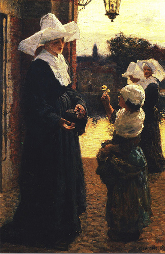 George Clausen (1852-1944) The Flower 1879.jpg