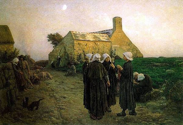 Jules Breton (1827-1906) Evening_in_the_Hamlet_of_Finistere.jpg
