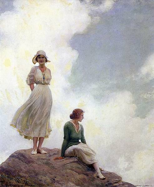 Charles Courtney Curran (1861-1942)-The Boulder.jpg